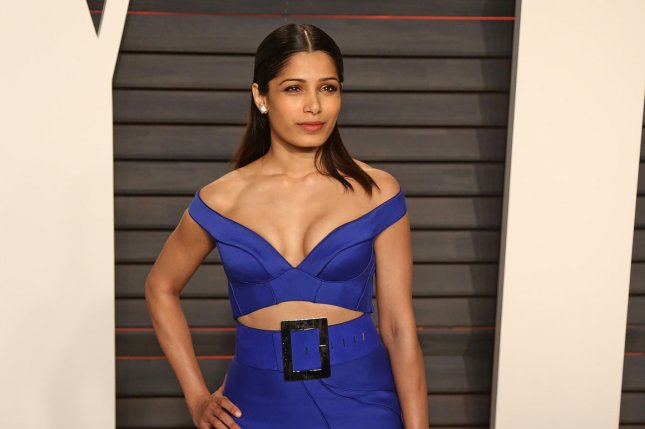 Freida Pinto attends the 2016 Vanity Fair Oscar Party at the Wallis Annenberg Center for the Performing Arts in Beverly Hills on February 28, 2016. She has been cast in a starring role for Showtime-Sky's miniseries Guerilla. File Photo by David Silpa/UPI