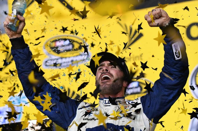 NASCAR Nationwide Series Championship driver Jimmie Johnson (48) is seen celebrating after winning the Ford EcoBoost 400 race and the Sprint Cup Series at the Homestead-Miami Speedway in Homestead, Florida on November 20, 2016. File photo By Gary I Rothstein/UPI