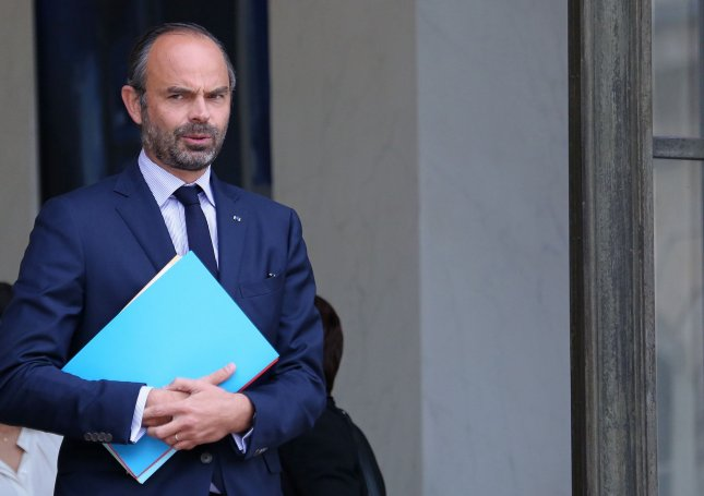 French Prime Minister Edouard Philippe provided details about the country's plans to streamline its pension system on Wednesday amid ongoing protests.  File Photo by David Silpa/UPI