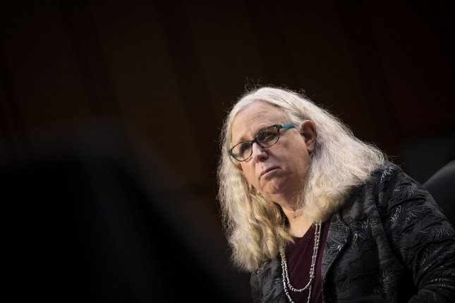 Rachel Levine appears during her confirmation hearing on Capitol HIll on February 24. President Joe Biden recognized Levine in his first presidential proclamation on Transgender Day of Visibility. Photo by Caroline Brehman/UPI