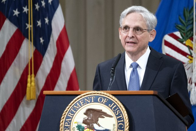 U.S. Attorney General traveled to Oklahoma Monday on the 26th anniversary of the Oklahoma City bombing, warning that the terror perpetrated by Timothy McVeigh is still with us. FilePhoto by Kevin Dietsch/UPI