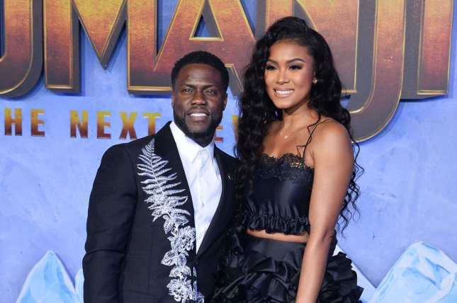 Kevin Hart (L) and his wife Eniko Parrish attend the premiere of Jumanji: The Next Level in December 2019. Hart has launched a screenwriting fellowship through his LOL company along with the Sundance Institute. File Photo by Jim Ruymen/UPI