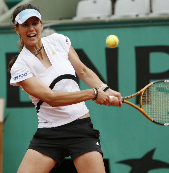 Tsvetana Pironkova, shown in a 2007 tournament, was a first-round winner Monday at a tournament in Hungary. (UPI Photo/ David Silpa)