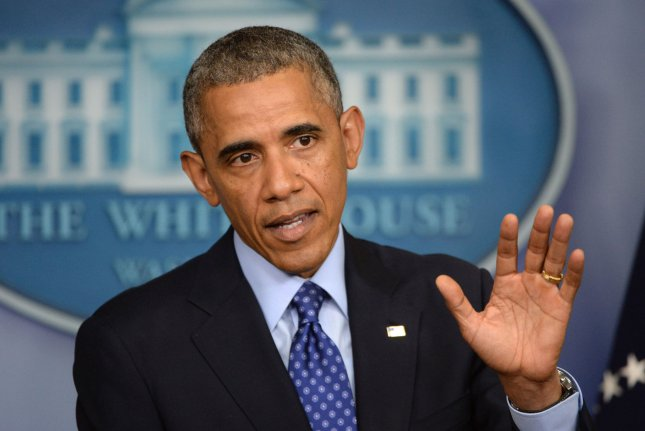 U.S. President Barack Obama announces that he is sending up to 300 military advisers to Iraq to help stop the insurgency, during a statement in the Brady Press Room of the White House in Washington, DC on June 19, 2014. UPI/Pat Benic