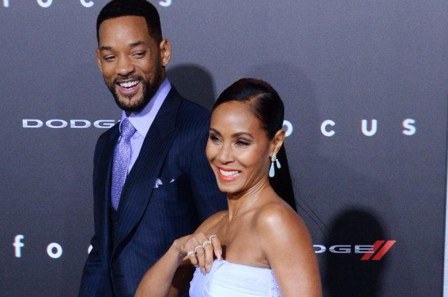 Cast member Will Smith and his wife, actress Jada Pinkett Smith attend the premiere of the motion picture dramatic comedy Focus at TCL Chinese Theatre in the Hollywood section of Los Angeles on February 24, 2015. The couple took to social media to directly slam divorce rumors, calling each other royalty. Photo by Jim Ruymen/UPI