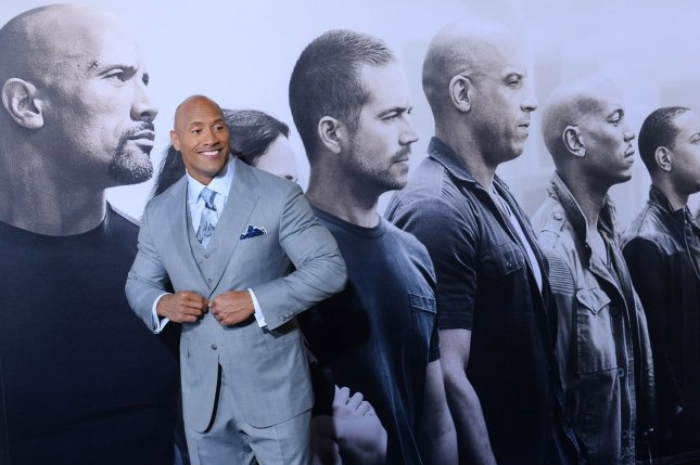 Cast member Dwayne Johnson attends the premiere of the motion picture crime thriller Furious 7 at TCL Chinese Theatre in the Hollywood section of Los Angeles on April 1, 2015. File Photo by Jim Ruymen/UPI