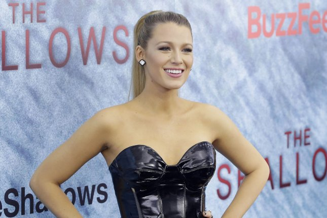 Blake Lively at the New York premiere of The Shallows on June 21. The actress started filming the movie eight months after giving birth to her daughter. File Photo by John Angelillo/UPI
