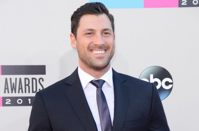 Maksim Chmerkovskiy arrives for the 41st annual American Music Awards on November 24, 2013. Chmerkovskiy shared a hospital photo of his pregnant wife Peta Murgatroyd on her due date. File Photo by Phil McCarten/UPI