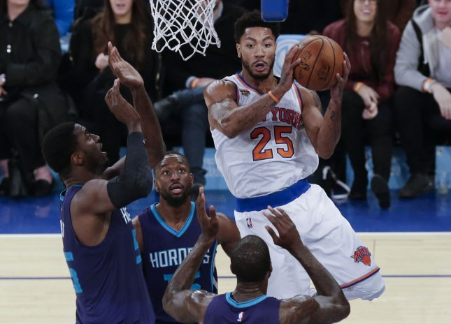 Does anyone know where New York Knicks guard Derrick Rose is? - UPI com