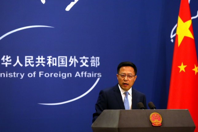 China's Foreign Ministry spokesman Zhao Lijian accused the Trump administration of bullying on Thursday during a regular press briefing in Beijing. Photo by Stephen Shaver/UPI