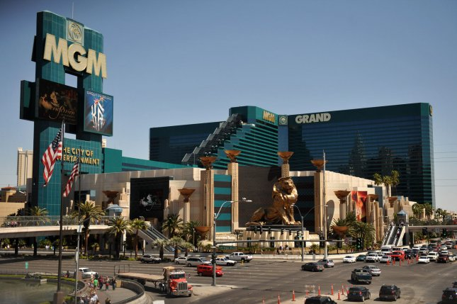 The MGM Grand Hotel and Casino, pictured on April 3, 2009, will host the 44th Annual Academy of Country Music Awards on Sunday, April 5, in Las Vegas. (UPI Photo/Kevin Dietsch)
