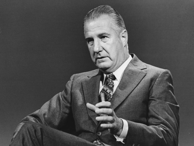 Vice President Spiro Agnew said on August 22 he was not no a bit worried about talk that Treasury Secretary Connally, a Democrat, might replace him as President's Nixon's running mate next year. Agnew, interviewed on television, denied as absolutely false a report that his relations with Nixon had chilled. UPI File Photo