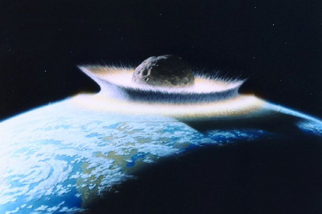 A new study suggests Earth is bombarded by asteroids at random, based on researchers finding no pattern among Earth's impact craters. Photo by rw/D. Davis/NASA/UPI