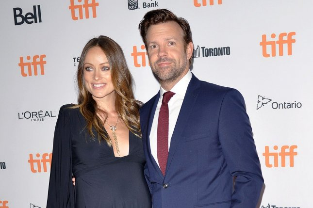 Olivia Wilde (L) and Jason Sudeikis attend the Toronto International Film Festival premiere of Colossal on September 9, 2016. The actress dedicated a sweet post to son Otis on his birthday Thursday. File Photo by Christine Chew/UPI