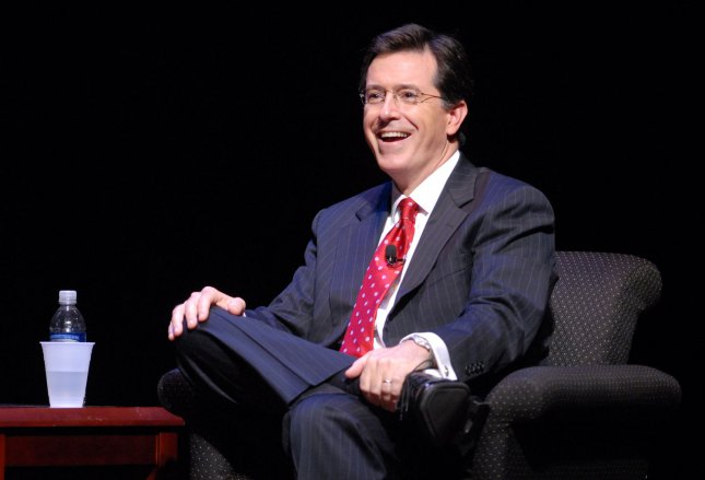 Stephen Colbert speaks about his new book I Am America (And So Can You!) at George Washington University in Washington on October 19, 2007. (UPI Photo/Alexis C. Glenn)