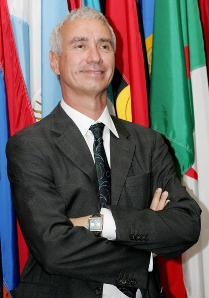Roland Emmerich attends the premier of the film Trade, which he produced, at the United Nations on September 19, 2007 in New York City. The movie, which stars Kevin Kline, is about the illegal human trade business for the purpose of prostitution. (UPI Photo/Monika Graff).