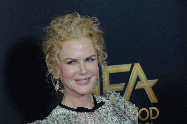 Actress Nicole Kidman attends the 20th annual Hollywood Film Awards on Nov. 6, 2016. Kidman recently appeared on The Tonight Show for another awkard interview with host Jimmy Fallon where she told him he missed out on a second opportunity for ask for his phone number. Photo by Jim Ruymen/UPI