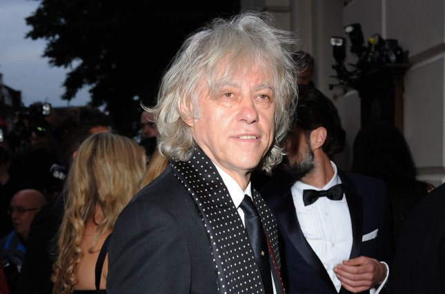 Singer Bob Geldof is handing back his Freedom of the city of Dublin award in protest of Myanmar leader Aung San Suu Kyi. File Photo by Paul Treadway/UPI.