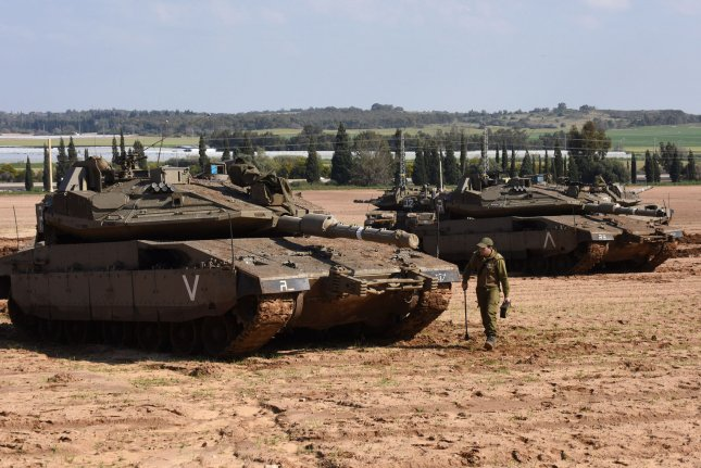 The Israel Defense Force began a four-day exercise on Sunday simulating simultaneous attacks at the country's northern and southern borders. File Photo by Debbie Hill/UPI