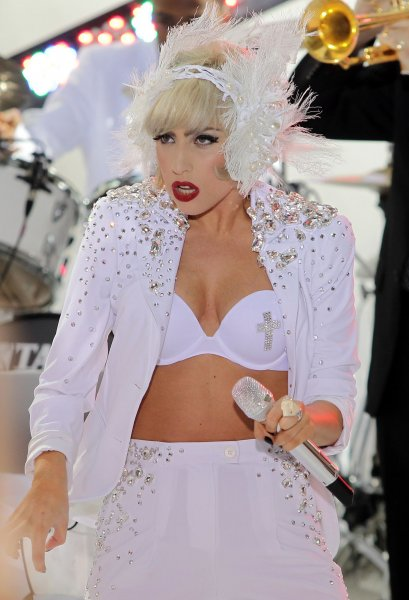 Lady Gaga performs on the NBC Today Show at Rockefeller Center in New York City on July 9, 2010. UPI/John Angelillo