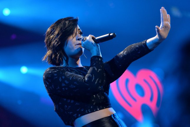Demi Lovato performs during the Hot 99.5 Jingle Ball concert in Washington, D.C. on Dec. 15, 2014. Photo by Kevin Dietsch/UPI