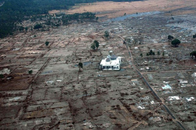 New research explains the severity of the earthquake that triggered devastating tsunamis in Indonesia in 2004. Photo by UPI Photo/Jacob Kirk/Navy