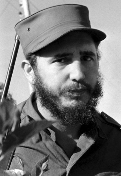 Fidel Castro, leader of the revolutionary group which overthrew Cuban dictator Fulgencio Batista is pictured in a January 1959 file photo in Havana, Cuba. UPI File Photo
