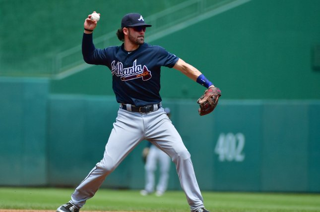 Atlanta Braves shortstop Dansby Swanson spent over a month on the injured list due to a foot injury. File Photo by Kevin Dietsch/UPI