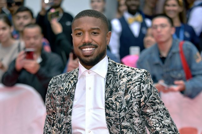 Michael B. Jordan arrives for the world premiere of Just Mercy during the Toronto International Film Festival on September 6. File Photo by Chris Chew/UPI