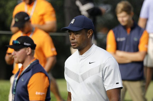 Tiger Woods said he used to work out with Kobe Bryant and spoke frequently with the late Los Angeles Lakers star during his NBA career. File Photo by Peter Foley/UPI