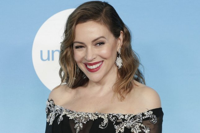 Alyssa Milano arrives on the red carpet at the 14th Annual UNICEF Snowflake Ball on November 2018. Milano is attached to a Who's the Boss? revival along with Tony Danza. File Photo by John Angelillo/UPI