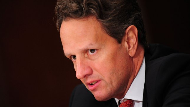 Treasury Secretary Tim Geithner said Washington was leaning in favor of a resolution to allow the use of force if the peace plan brokered by former U.N. Secretary-General Kofi Annan proves ineffective. UPI/Kevin Dietsch