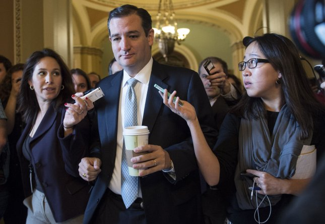 Sen. Ted Cruz, R-Texas, on Capitol Hill in Washington, Oct. 16, 2013. UPI/Kevin Dietsch