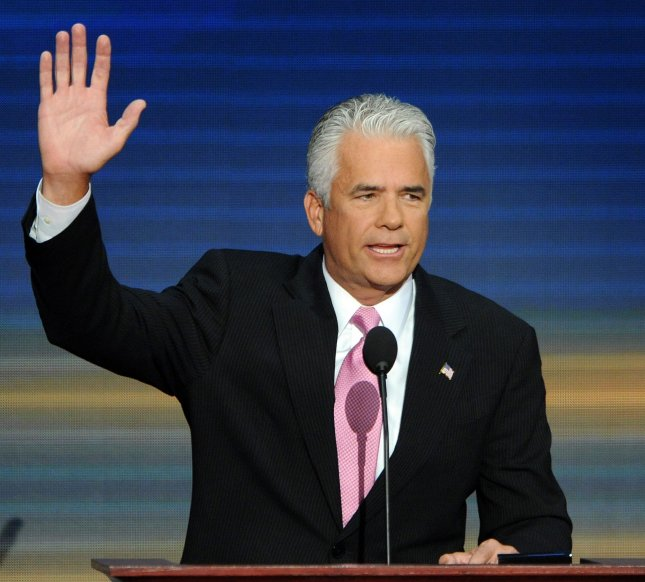 U.S. Sen. John Ensign, R-Nev., announced in Las Vegas Monday he will not see a third term in 2012. (UPI Photo/Roger L. Wollenberg)