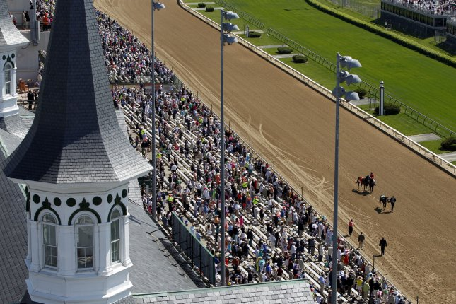 Fans prepare for the 140th running of the Kentucky Derby at Churchill Downs in Louisville, Kentucky, May 3, 2014 UPI/John Sommers II
