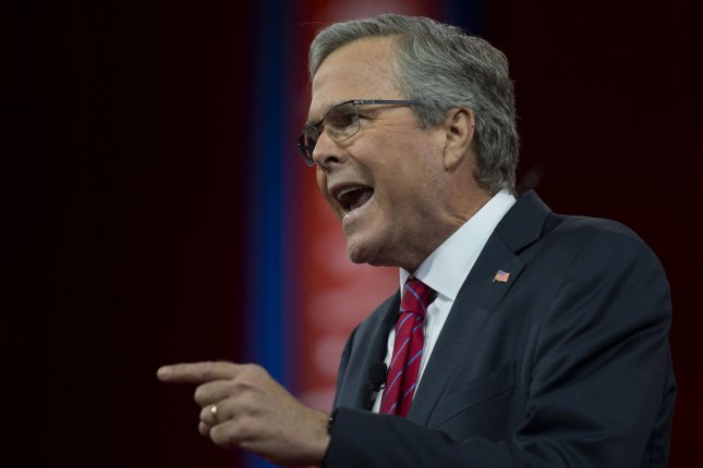 Republican Jeb Bush said Saturday during a town hall event near Las Vegas that tighter gun controls would not significantly reduce violent crimes like the attack on a black church in Charleston, S.C., that killed nine people this month. Photo: Molly Riley/UPI