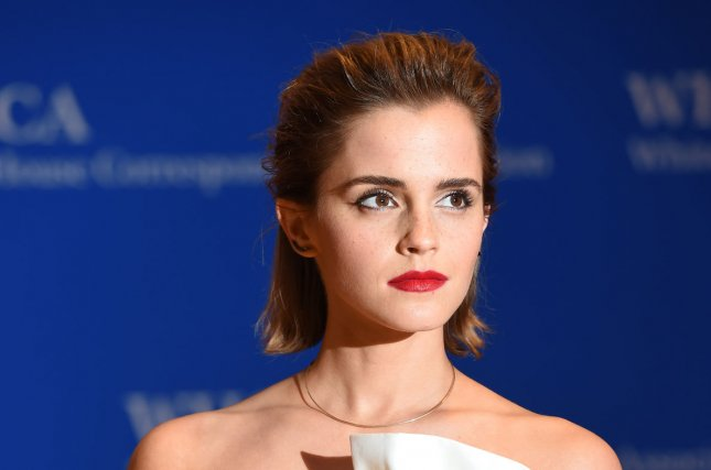 Actress Emma Watson arrives on the red carpet prior to the White House Correspondents Association Dinner at the Washington Hilton in Washington, DC, April 30, 2016. Disney released a new series of motion posters for Beauty and the Beast showcasing Watson as Belle alongside other cast members of the live-action adaptation. Photo by Molly Riley/UPI