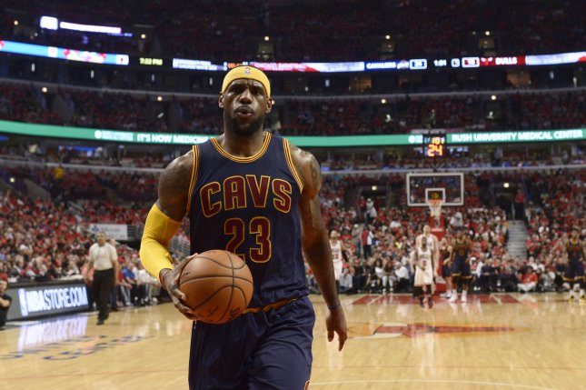 LeBron James poured in 32 points and became the youngest player to score 28,000 in a career as the Cleveland Cavaliers knocked off the New York Knicks 111-104 on Saturday night at Madison Square Garden. File Photo by Brian Kersey/UPI