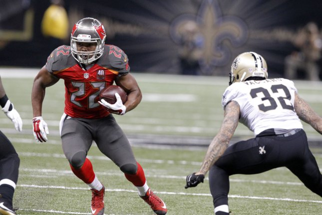 Tampa Bay Buccaneers running back Doug Martin (22) has been impressive so far in the team's offseason workouts. File Photo by AJ Sisco/UPI