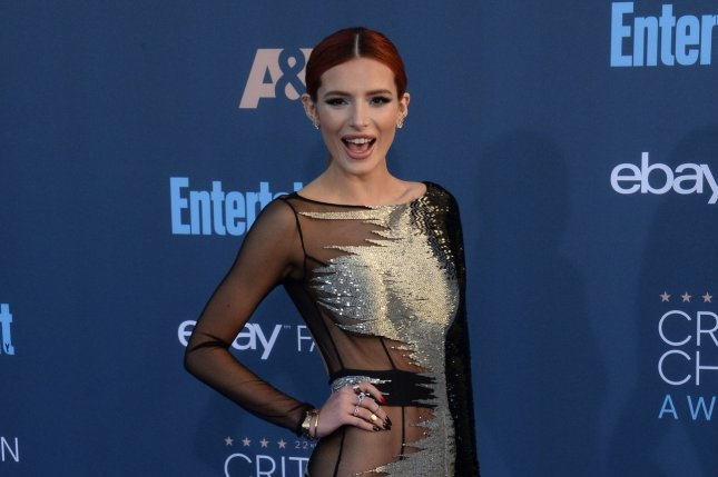 Bella Thorne attends the Critics' Choice Awards on December 11. The actress downplayed her romance with Scott Disick on Friday. File Photo by Jim Ruymen/UPI