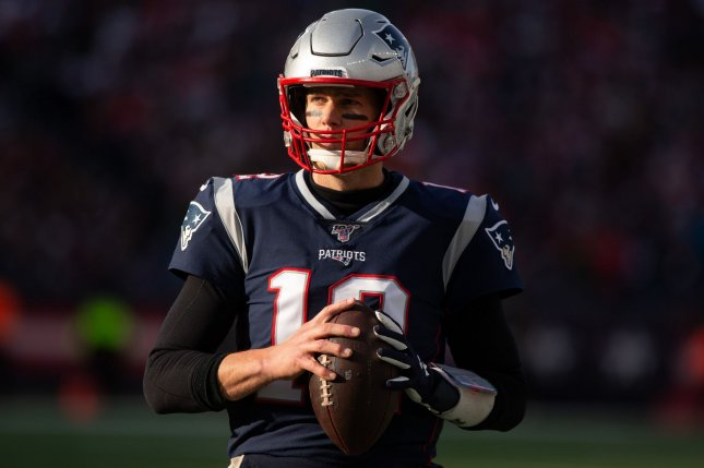 New England Patriots quarterback Tom Brady faces the Tennessee Titans in an AFC wild card playoff game at 8:15 p.m. EST Sunday at Gillette Stadium in Foxborough, Mass. Photo by Matthew Healey/UPI