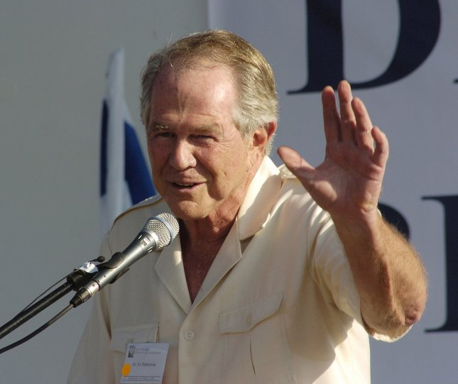 Dr. Pat Robertson warns people not to travel to Africa because even the towels could have AIDS. (UPI Photo/Debbie Hill)