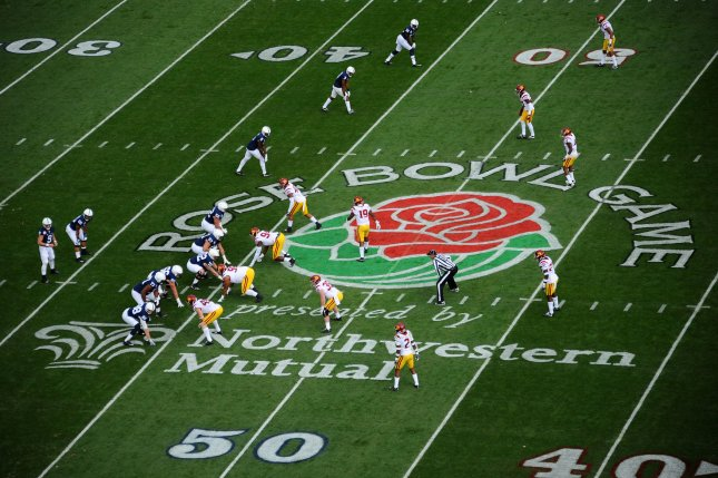 A general view of the game between the USC Trojans and the Penn State Nittany Lions during the 2017 Rose Bowl in Pasadena, California on January 2, 2017. Photo by Juan Ocampo/UPI