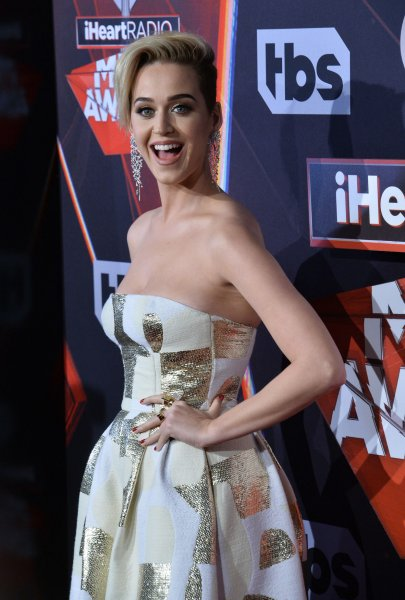 Katy Perry attends the iHeartRadio Music Awards on Sunday. The singer performed Chained to the Rhythm at the ceremony. Photo by Jim Ruymen/UPI