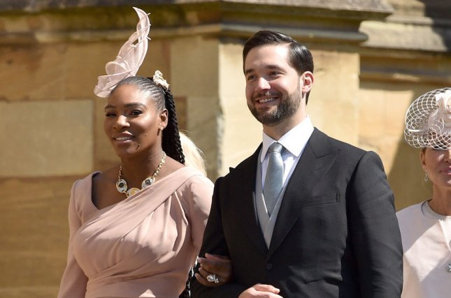 Alexis Ohanian (R), pictured with Serena Williams, said he always tries to show up and support the tennis star. File Photo by Lionel Hahn/UPI