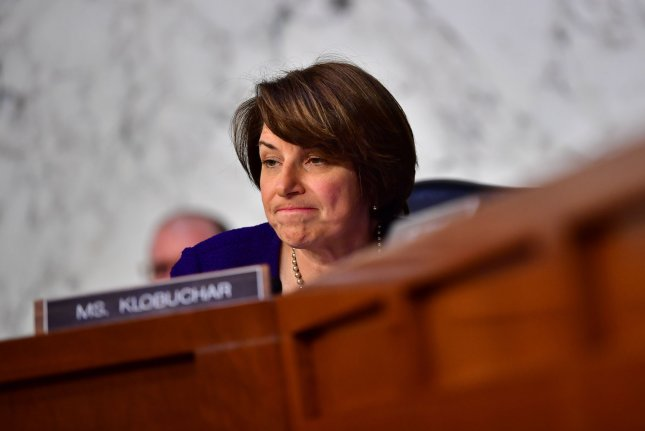 Sen. Amy Klobuchar, D-Minn., announced a plan for seniors Friday that focuses on Alzheimer's and a right to have health care. Photo by Kevin Dietsch/UPI