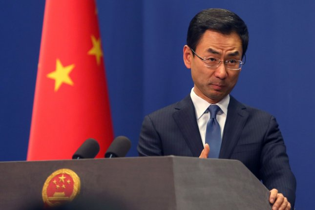 China's foreign ministry spokesman Geng Shuang said Tuesday U.S. leaders are lying about Chinese responsibility for the novel coroanvirus. File Photo by Stephen Shaver/UPI