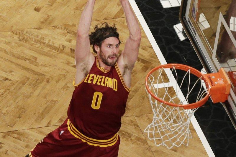 Cleveland Cavaliers forward Kevin Love. Photo by John Angelillo/UPI