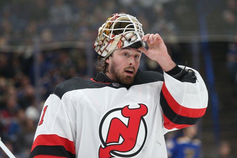 Keith Kinkaid and the New Jersey Devils face off with the Ottawa Senators on Friday. Photo by BIll Greenblatt/UPI