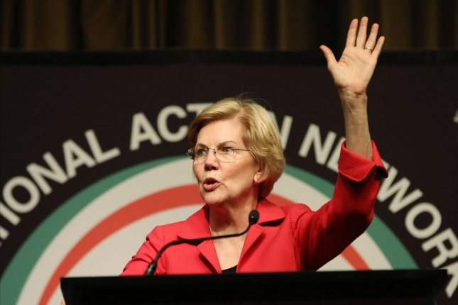 Democratic presidential candidate and Massachusetts Sen. Elizabeth Warren announced a plan for universal public colleges with free tuition and a plan to wipe out student debt for many Americans. Photo by Monika Graff/UPI